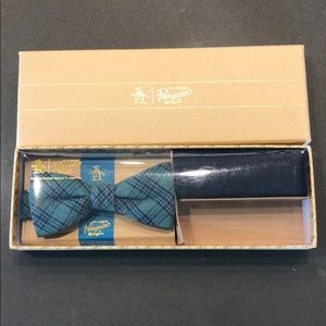 Penguin Bow Tie and Pocket Square Never Used